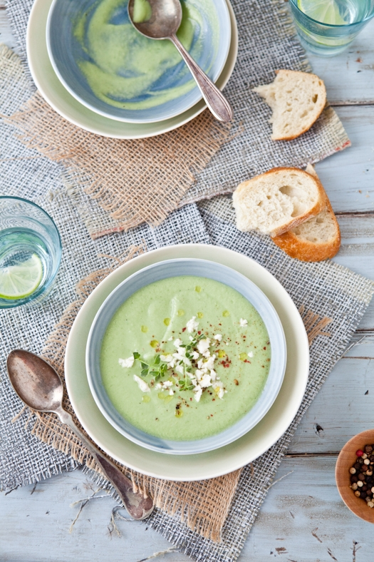 Chilled Cucumber & Avocado Soup