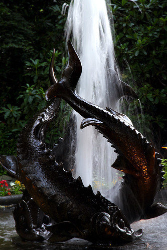 Butchart Gardens - Fishy Fountain