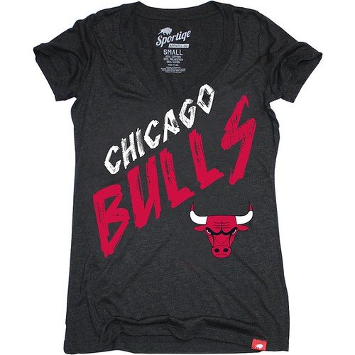 Chicago Bulls Stroke T-Shirt By Sportiqe