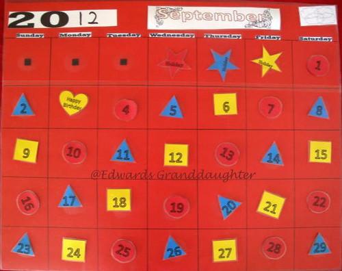 2 School Calendar @Edwards Granddaughter