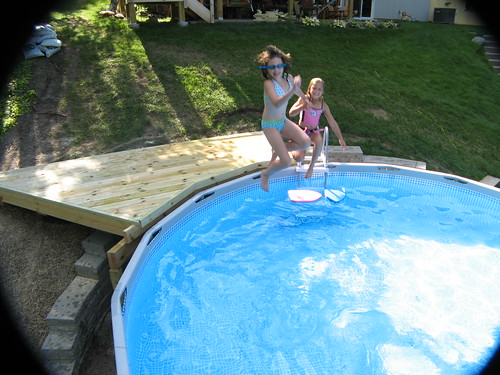 Above Ground Pool On A Sloped Backyard : Re Newbie AGP Install on Steep Slope (MN)