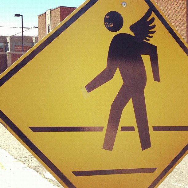 Angel crossing.