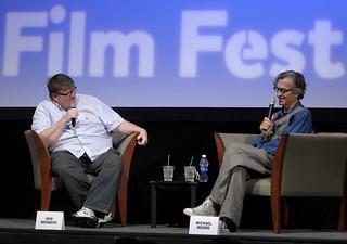 Michael Moore & Wim Wenders by John Russell