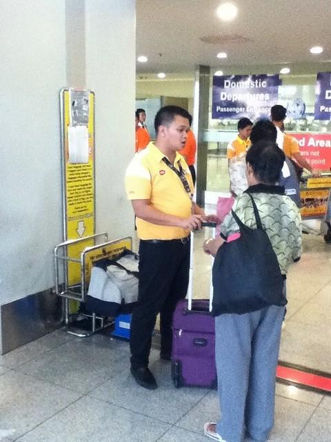宿务太平洋航空在马尼拉机场查超重乘客