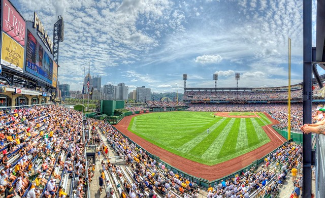 Panorama of PNC Park in Pittsburgh HDR