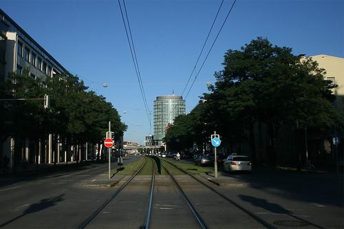 Blick Richtung Donnersbergbrücke - Arnulfstraße