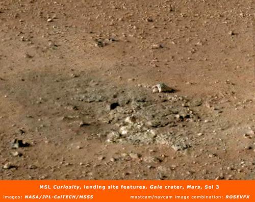 MSL Curiosity landing site feature
