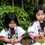 Young Japanese Girls at Sanja Festival - Tokyo, Japan