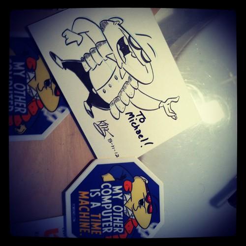 Sticker sketches: BTTF Bob!
