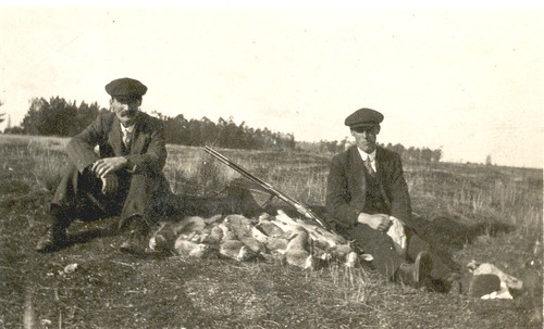 Athur James & Cyril Pearce rabbit hunting