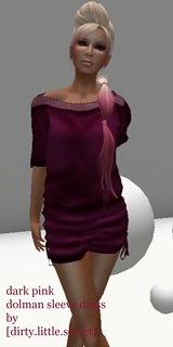 dark pink dolman sleeve dress ad