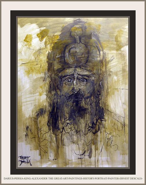 DARIUS-PERSIA-KING-ALEXANDER THE GREAT-ART-PAINTINGS-HISTORY-PORTRAIT-PAINTER-ERNEST DESCALS