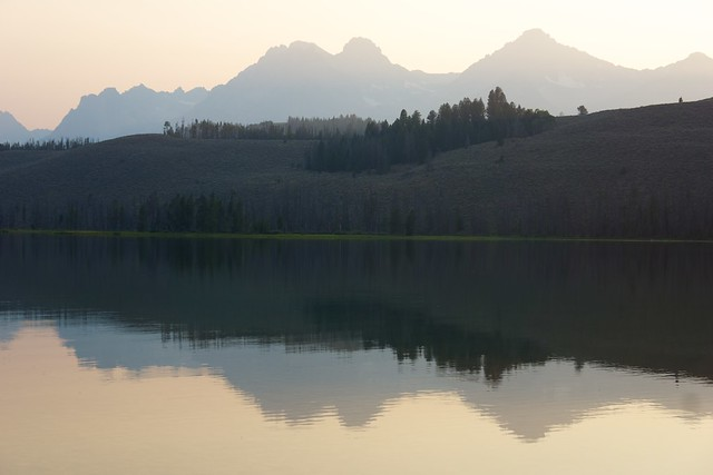 Sawtooth Mountains at dusk