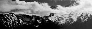 Rainier vista (pano, B&W)