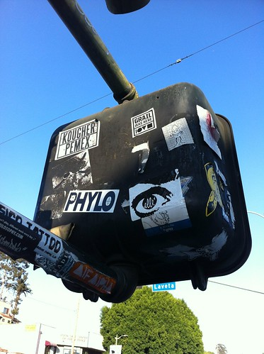 Kougher Pemex Elle Street Art Stickers Echo Park by WE HATE FLICK R MAIL - EMAIL US: info@bomit.com