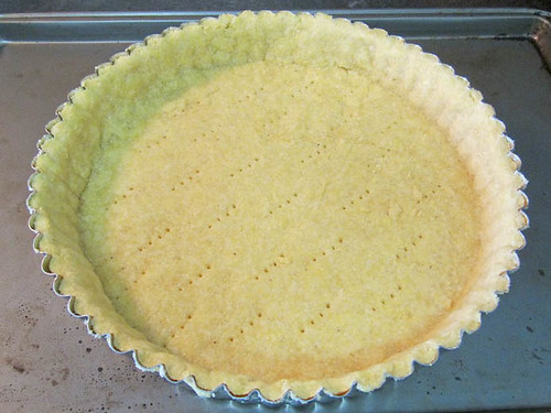 Cornmeal tart shell