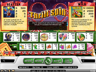 free Thrill Spin slot payout