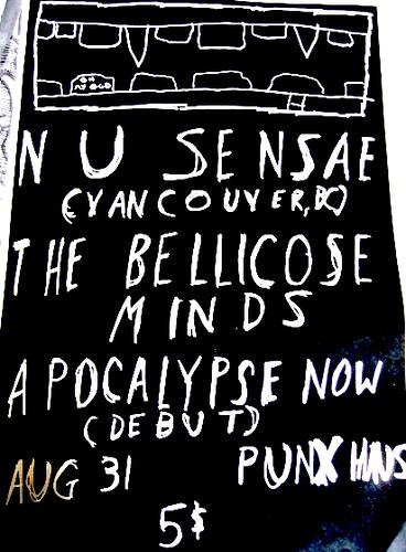 8/31/12 NuSensae/BellicoseMinds/ApocalypseNow