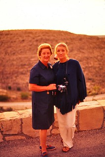 New Mexico   -   Carlsbad Caverns   -   My mother & me    -   July 1972