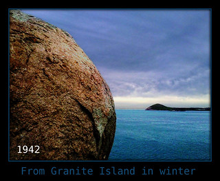 from granite island in winter - dramatised-001 ~ mobile phone camera snap ~ elements 5 fiddling to bring design pic to life ~ albeit artificial ~ not reality but loved design elements here