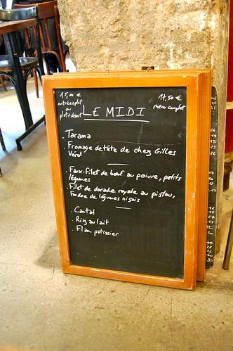 paris menu