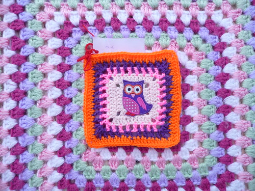'Owl Challenge' Square. I love the applique. Fantastic idea Fiona!