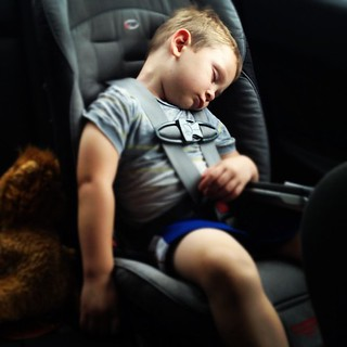 We listened to him sing the beginning of Veggie Tales, followed by a slam which was him closing the DVD player and looked back within seconds to this. So . . . Isaac liked the farm. #tuckeredout #carnap #tractorridesaretooexciting