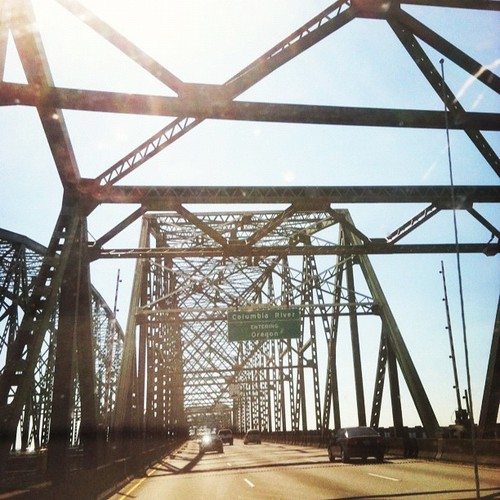 The bridge that puts us in Oregon and out of Washington.