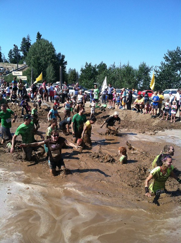 the dash... mud pit!