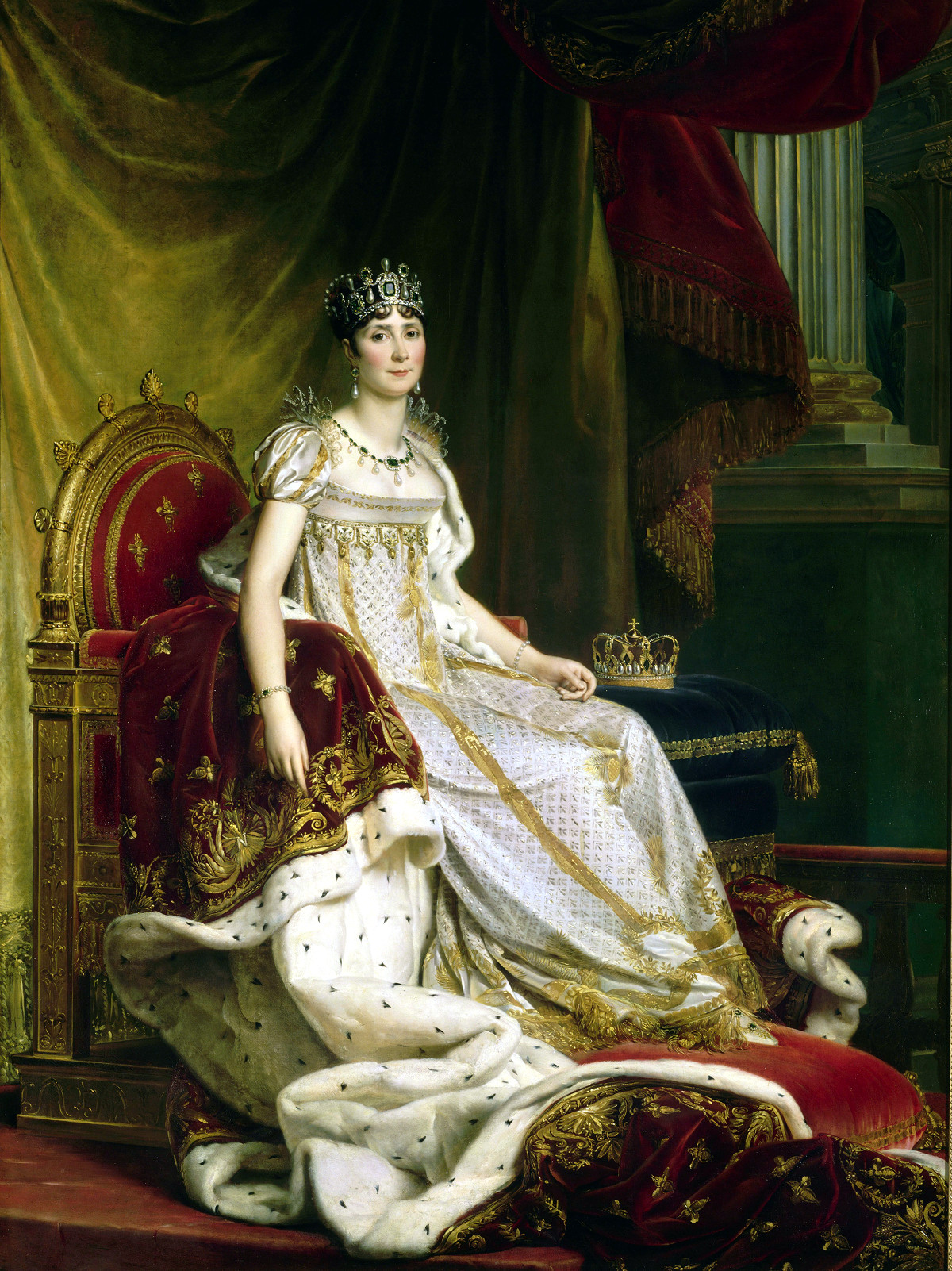Joséphine in coronation costume by Baron François Gérard