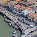 Wells Next The Sea quay aerial image by John D F
