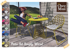 Patio Set Simply Wired CHEZ MOI