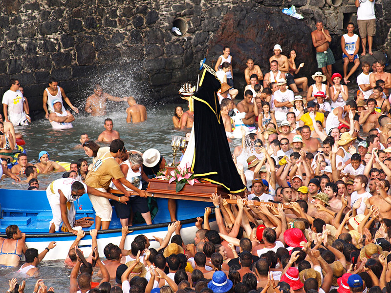 San Telmo at Fiestas del Carmen, Puerto de la Cruz, Tenerife