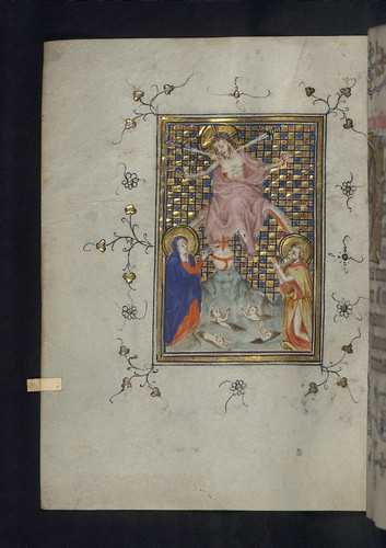 Illuminated Manuscript, Doffinnes Hours, Last Judgment, Walters Manuscript W.185, fol. 138v by Walters Art Museum Illuminated Manuscripts