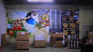 Barrels & mural