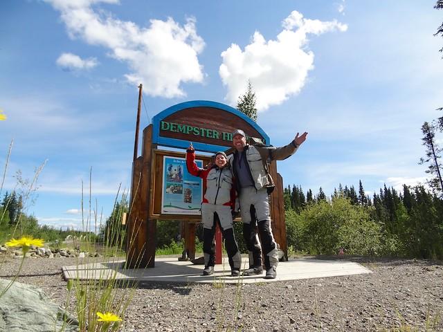 Sara & Daniel Dempster Highway sign