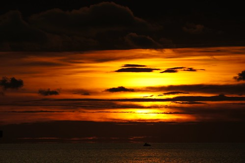 sunset woman man gulfofmexico clouds evening florida jetski