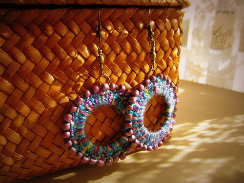 Crochet earrings by Bohemian Hooks