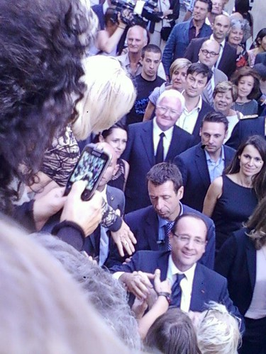Visite du président de la République à Avignon le 15 juillet 2012