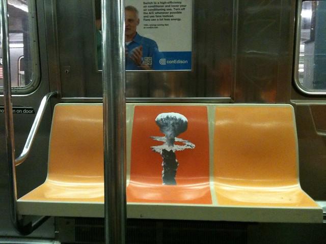 Minor Nuclear Explosion (G train; car 5062; Happy Anniversary Manhattan Project)