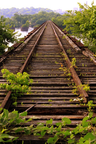 The Old Railroad Bridge View #1 Tracks to Nowhere - Florence, AL