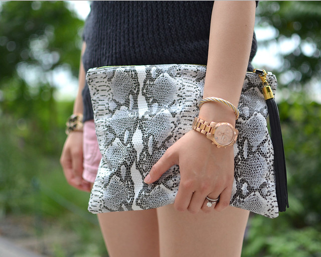 Blair Ritchey snake print clutch
