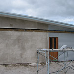 West Wall (Brown Coat) - Strawbale House Build in Redmond Western Australia