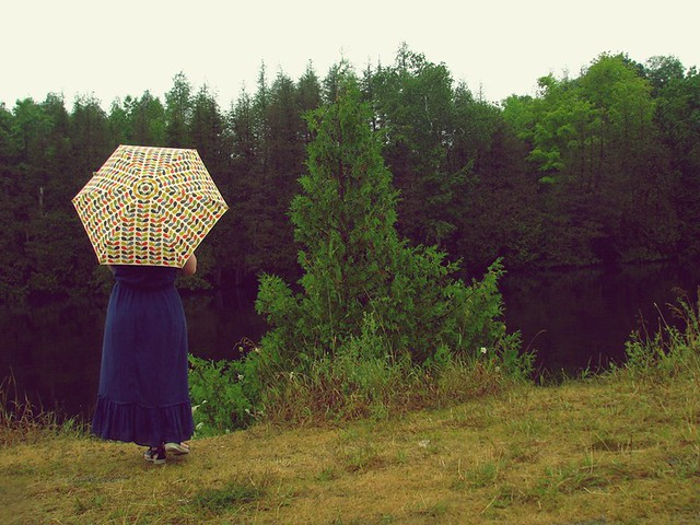 rainy day + my Orla umbrella
