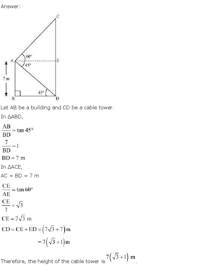 NCERT Solutions For Class 10 Maths Chapter 9 Some Applications of Trigonometry PDF Download freehomedelivery.net