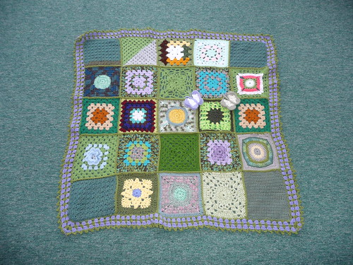 Thanks to everyone that contributed squares for this blanket.