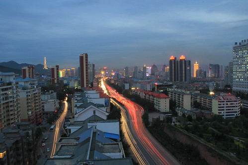 china city sunset skyline bluesky 中国 日落 青海 qinghai xining 西宁 canoneos60d