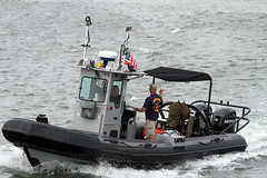 vehicle, sea, motorboat, inflatable boat, rigid-hulled inflatable boat, watercraft, boat, coast guard,