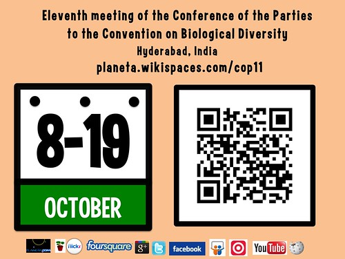 October 8-19 Eleventh meeting of the Conference of the Parties to the Convention on Biological Diversity #cop11 #cop2012 #rtyear2012