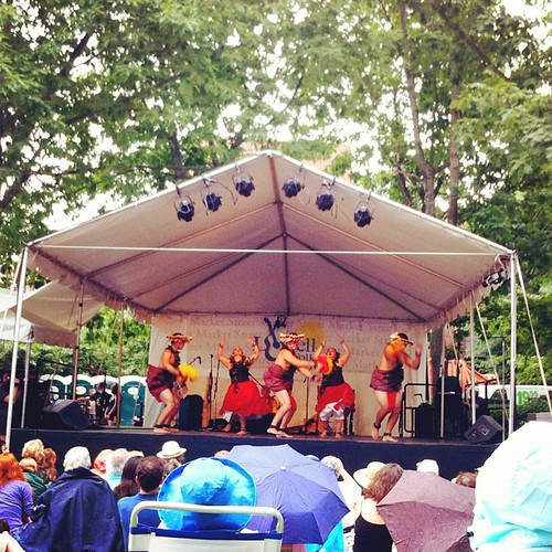 Hula in the rain! #Lowell #LowellFolkFestival